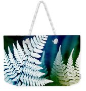 Blue Fern Leaf Art Weekender Tote Bag