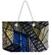 Blue Fire Escape Weekender Tote Bag