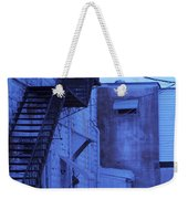 Blue Fire Escape Usa Near Infrared Weekender Tote Bag