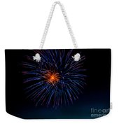 Blue Firework Flower Weekender Tote Bag