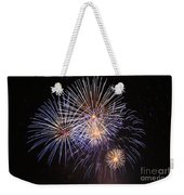 Blue Fireworks At Night Weekender Tote Bag