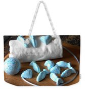 Blue Fish Bath Bombs Weekender Tote Bag