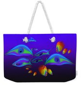 Blue Fish Dolphin Weekender Tote Bag