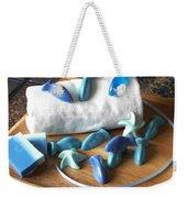 Blue Fish Mini Soap Weekender Tote Bag