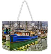 Blue Fishing Boat Hdr Weekender Tote Bag