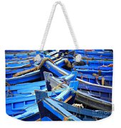 Blue Fishing Boats Weekender Tote Bag
