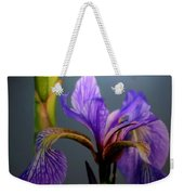 Blue Flag Iris Flower Weekender Tote Bag