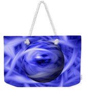 Blue Flame Background Weekender Tote Bag