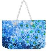 Blue Floral Fantasy Weekender Tote Bag