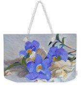 Blue Flower Still Life Weekender Tote Bag