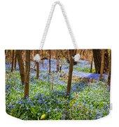 Blue Flowers In Spring Forest Weekender Tote Bag