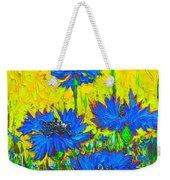 Blue Flowers - Wild Cornflowers In Sunlight  Weekender Tote Bag