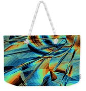 Blue Flowpaper Solarized Weekender Tote Bag