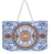 Blue Fractal Inception  Weekender Tote Bag