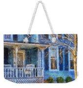 Blue Front Porch Photo Art 01 Weekender Tote Bag