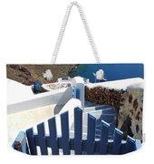 Blue Gate Oia Santorini Greek Islands Weekender Tote Bag
