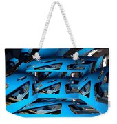 Blue Girder Weekender Tote Bag