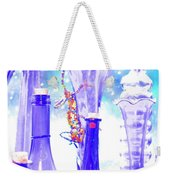 Blue Glass And Gecko Weekender Tote Bag