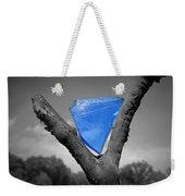 Blue Glass Art Weekender Tote Bag