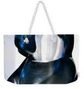 Blue Glass Bear Weekender Tote Bag