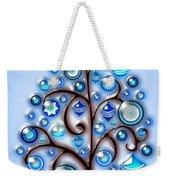 Blue Glass Ornaments Weekender Tote Bag
