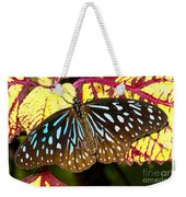 Blue Glassy Tiger Butterfly Weekender Tote Bag