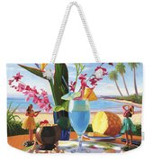 Blue Hawaiian Weekender Tote Bag
