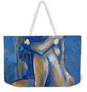 Blue Heart - Female Nude Weekender Tote Bag