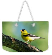 Blue Heart Goldfinch Weekender Tote Bag