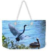 Blue Heron And Pelican Weekender Tote Bag