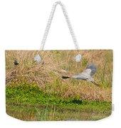 Blue Heron And The Black Bird Weekender Tote Bag