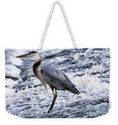 Blue Heron Fishing V3 Weekender Tote Bag
