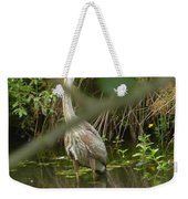 Blue Heron Hiding Reflection Weekender Tote Bag