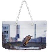 Blue Heron In Manayunk Weekender Tote Bag