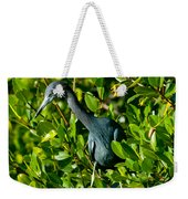 Blue Heron In Mangroves Weekender Tote Bag