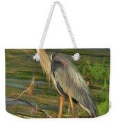Blue Heron On The Bank Weekender Tote Bag