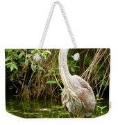 Blue Heron Reflection Weekender Tote Bag