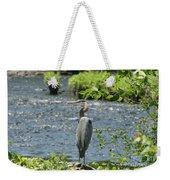 Blue Heron River Fishing  Weekender Tote Bag