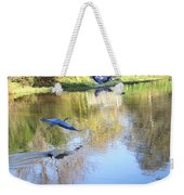 Blue Herons On Golden Pond Weekender Tote Bag