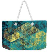 Blue Hexagon Fractal Art 2 Of 3 Weekender Tote Bag