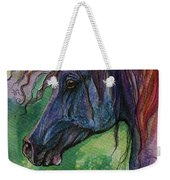 Blue Horse With Red Mane Weekender Tote Bag