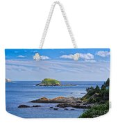Blue House With An Ocean View Weekender Tote Bag