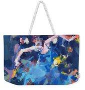 Blue Hurricane Weekender Tote Bag