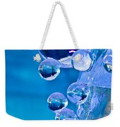 Blue Ice Bubbles Weekender Tote Bag