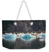 Blue Ice Flows Weekender Tote Bag