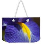 Blue Iris With Yellow Weekender Tote Bag