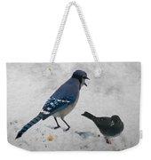 Blue Jay And Junco Weekender Tote Bag