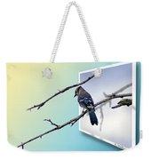 Blue Jay Branch Weekender Tote Bag