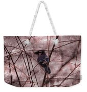 Blue Jay In The Willow Weekender Tote Bag