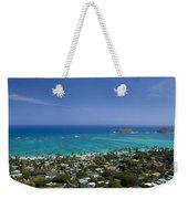 Blue Lanikai Overview Weekender Tote Bag
